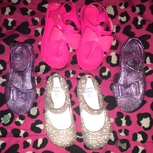 3 pair toddler girl size 8 sandals
